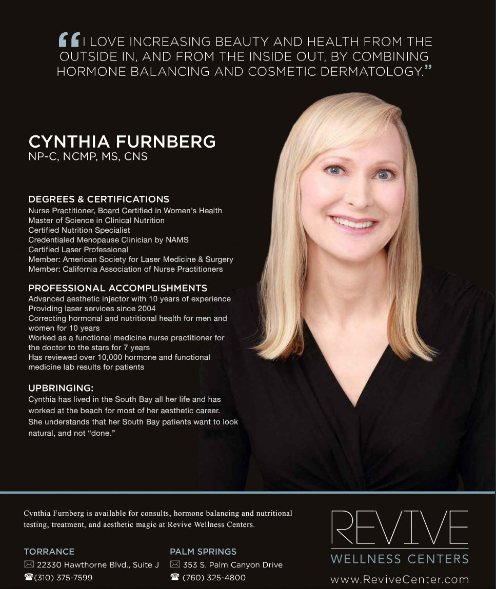 about cynthia furnberg laser hair removal and hormone balancing 2015 cynthia furnberg np featured in southbay magazine 2015