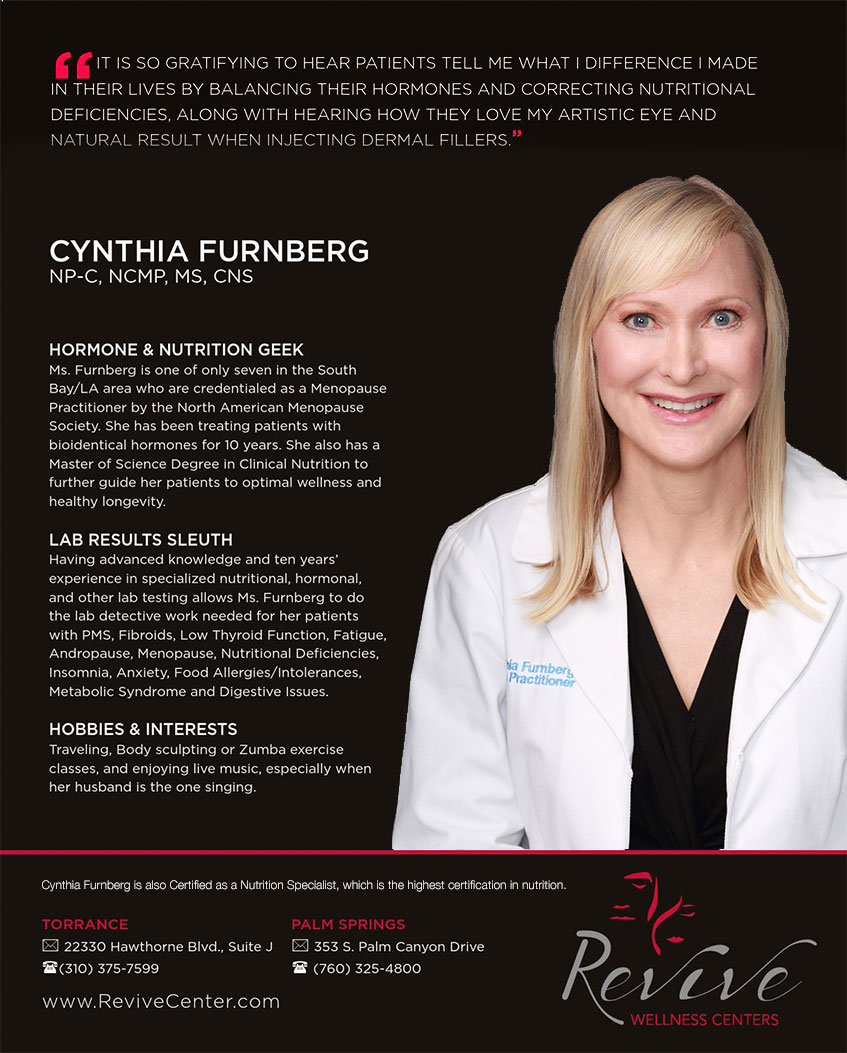 about cynthia furnberg laser hair removal and hormone balancing cynthia furnberg np featured in southbay magazine